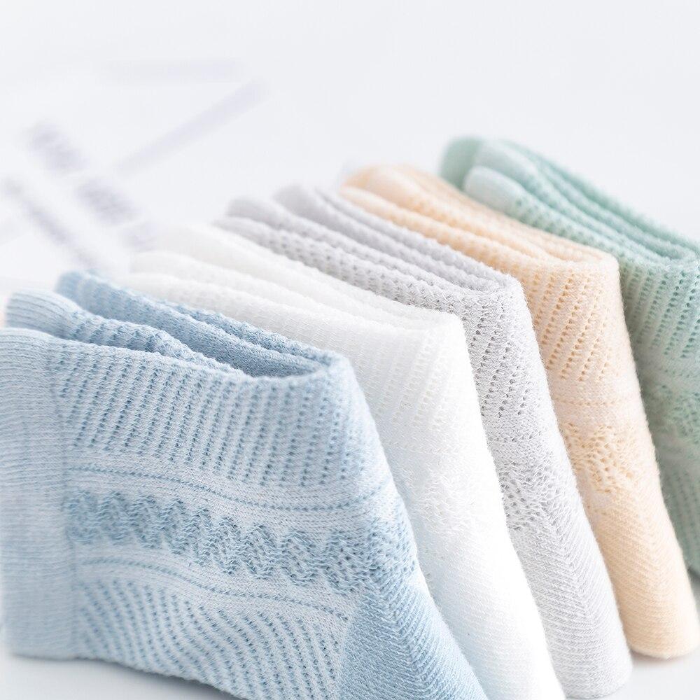 5Pairs/lot 0-12 Kids Socks Summer Cotton Jacquard Baby Socks Girls Mesh Cute Boy Toddler Socks Children Clothe Accessories 4