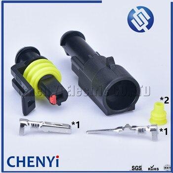 5 ensembles 1 broche AMP Tyco Super scellé fil électrique automobile connecteur mâle femelle voiture étanche kit de prise 282079-1 282103-1