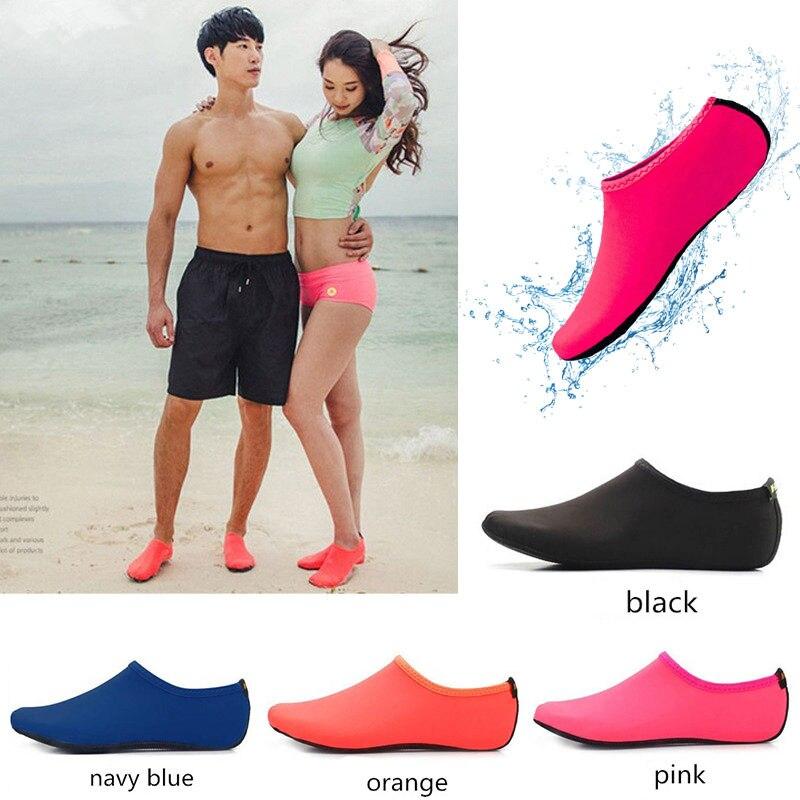 Водонепроницаемого материала; Водонепроницаемая обувь для мужчин и женщин для плавания с принтом носков Цвет летние быстросохнущие пляжны...