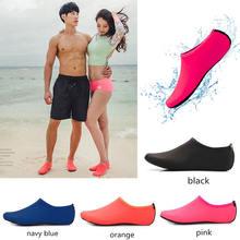 Sapatos de água das mulheres dos homens meias de natação cor impressão verão aqua praia tênis seaside sneaker meias chinelos para homens