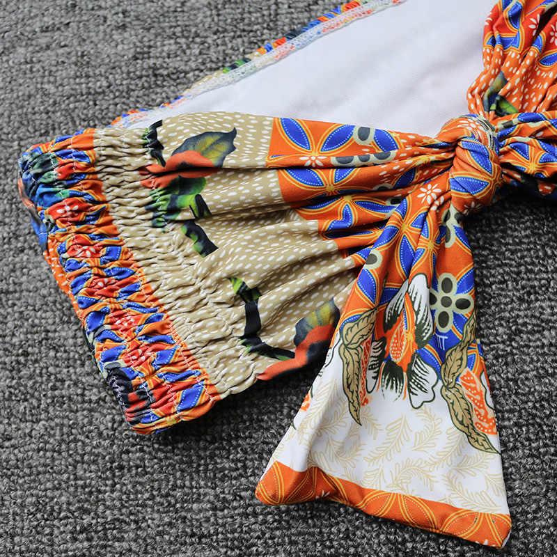 PLAVKY Sexy Plaid tętnienia z przodu Bow Knot Bandeau marszczone Biquini strój kąpielowy zakładka wysokiej talii strój kąpielowy stroje kąpielowe kobiety Bikini