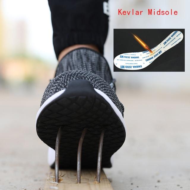 Ultra-light steel toe cap men safety shoes  5