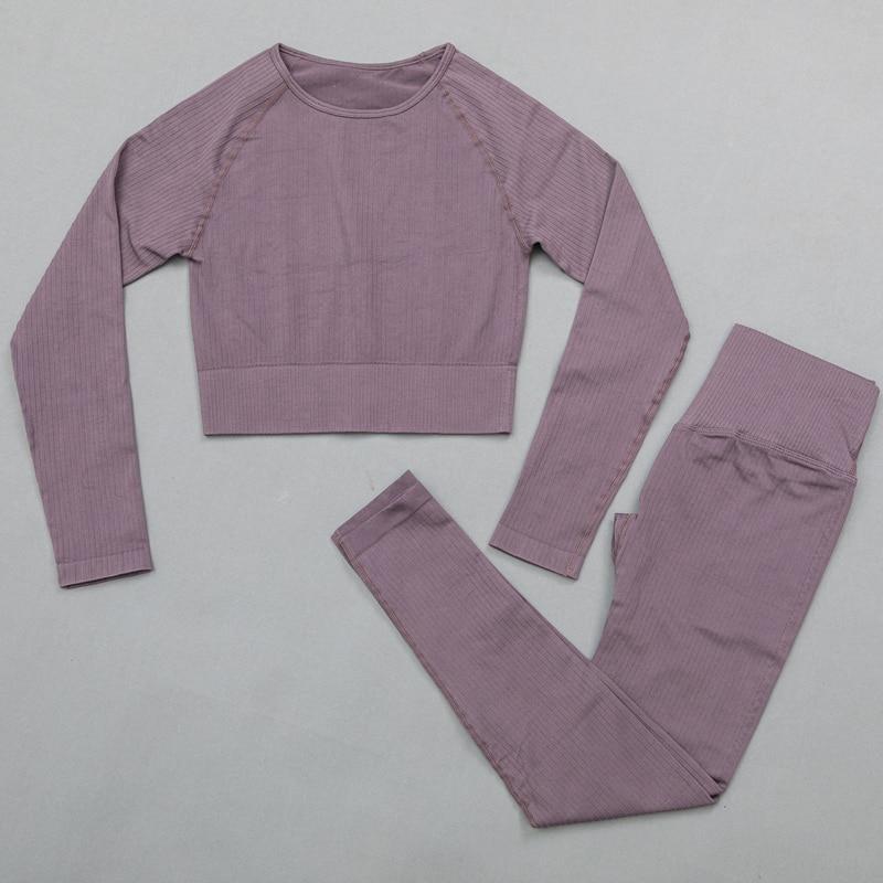 DarkPurple - Women's sportswear Seamless Fitness Yoga Suit High Stretchy