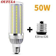 WPD  Led Corn Light E27 E26 Street Light 5730SMD With Fan Cooling 50W 220V 110V High Power Aluminum 85V-265V