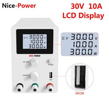 New 30V 10A DC Laboratory 60V 5A Regulated Lab Power Supply Adjustable Voltage Regulator Stabilizer Switching Bench Source USB image