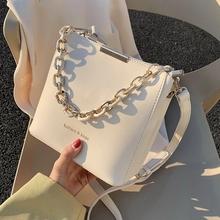 Moda wykwintne torby na zakupy Retro Casual kobiety torby na ramię kobieta skóra Solid Color torebka z łańcuszkiem dla kobiet 2021 tanie tanio Wiadro CN (pochodzenie) Zipper hasp Torebki