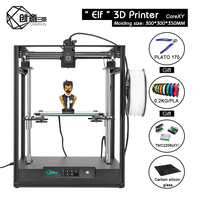 Creativity BestNew CoreXY ELF Double z axis 3D Printer High Precision Aluminum Profile Frame Large Area support BLtouch