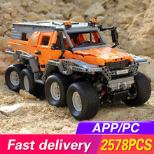 Siberia Technic Series Off-road vehicle RC Avtoros Shaman Car Model Building Blocks Bricks Compatible lepining 23011 Kids Toys