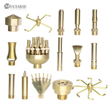 MUCIAKIE 15 Types of Fountain Nozzles Brass Sprinklers Garden Pond Rotating Copper Nozzles Head for Outdoor Park Water Ornaments