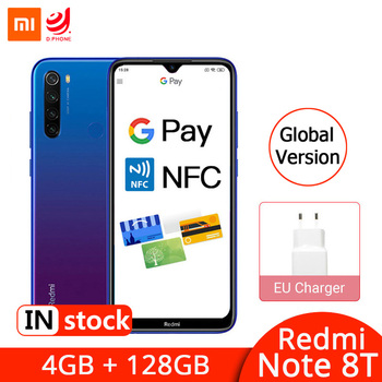 Купить Глобальная версия смартфона Xiaomi Redmi Note 8T 4 Гб 128 ГБ NFC Восьмиядерный Snapdragon 665 48MP Quad Camera 4000 мАч 18 Вт Быстрая зарядка
