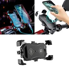 Waterproof 12V Motorcycle QC3.0 USB 15W Qi Wireless Charger Mount Holder Stand for iphone Cellphone Tablet GPS