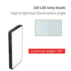 Image 4 - Manbily MFL 06 led luz de vídeo recarregável 4500mah pode ser escurecido 3000k 6500k luz de preenchimento para câmera slr fotografia smartphone iphone