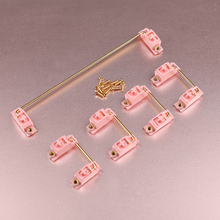 GKS PCB mounted Screw-in Gold Plated PCB Stabilizers Satellite Axis 7u 6.25u 2u For Mechanical Keyboard Modifier Keys