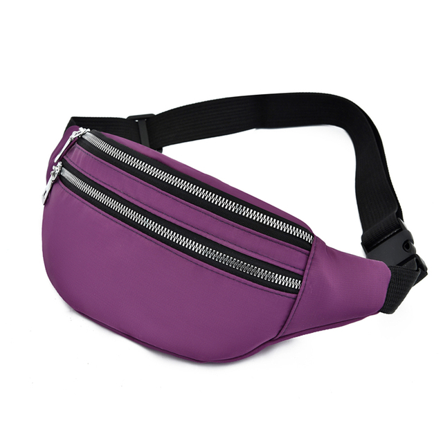 Women Ladies Female Waist Pack Zipper Adjustable Belt Solid Mini Shoulder Bag Crossbody Bag Sports Travel Cycling Casual  Bag 2