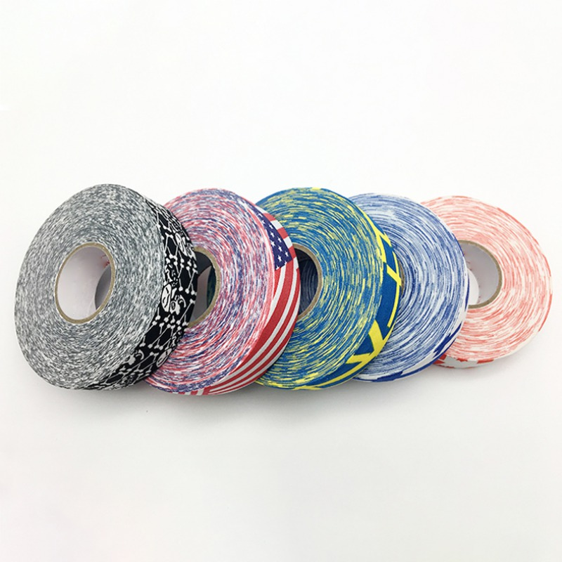 2.5cm X 25m Hockey Tape Sport Safety Football Volleyball Basketball Knee Pads Anti-slip Hockey Stick Tape Elbow Golf Tapes