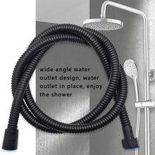 1,4 M Schwarz Edelstahl Dusche Kopf Schlauch Bad Dusche Schlauch Handheld Dusche Wasser Rohr Armaturen Ersatz Weichen Wasser Rohr G1/2