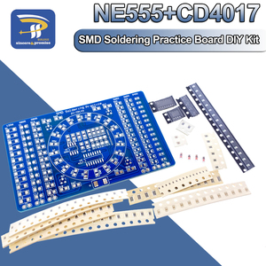 SMD NE555 CD4017 Rotating Flashing LED Components Soldering Practice Board Skill Electronic Circuit Training Suite DIY Kit