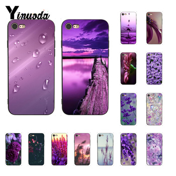 Yinuoda Infinity on Purple Cover Black Soft Shell Phone Case For iPhone 8 7 6 6S Plus X XS MAX 5 5S SE XR Cover image