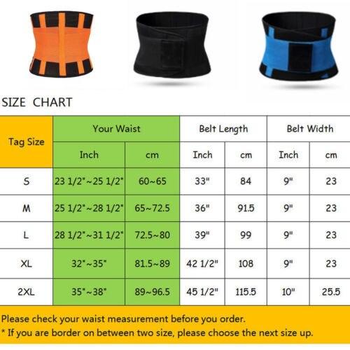 2019 Men Women Shapewear Sweat Belt Waist Cincher Trainer Trimmer Gym Body Shaper Unisex Sports Belt Waistband 2