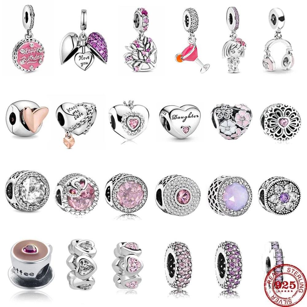 Jewelry Bracelet Charm Flower Fine-Beads DIY 925-Sterling-Silver Original Pandora Fit