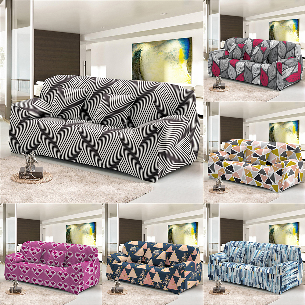 1 2 3 4 seat cover geometric series sofa cover stretch sofa cover suitable living room