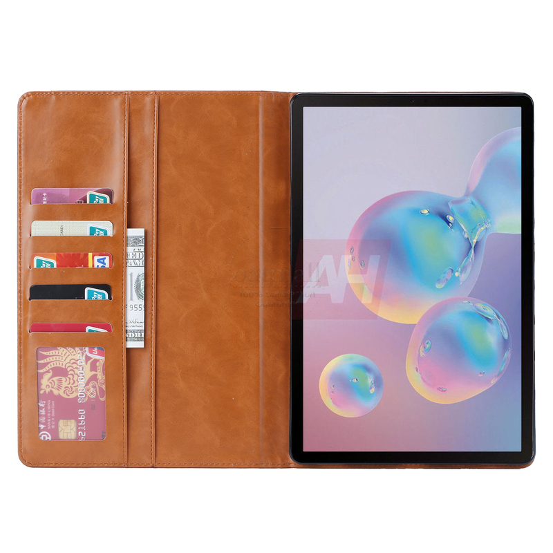 Luxury Vintage Suede Leather Cover For Samsung Galaxy Tab S6 T860 10.5 Case Wallet Card Stand Magnetic Book Classic Flip Case