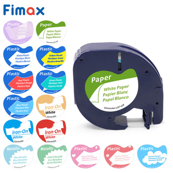 Fimax 91201 Compatible for DYMO LetraTag  Tape 91200 12267 Plastic Label Maker 91203 16951 Fabric 18771