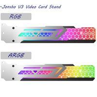 Bilgisayar ve Ofis'ten Fanlar ve Soğutma'de Jonsbo V3 ARGB/RGB Video kartı standı ekran kartı destek çerçevesi şasi tutucu braketi 3 Pin 5V ARGB anakart 1 adet