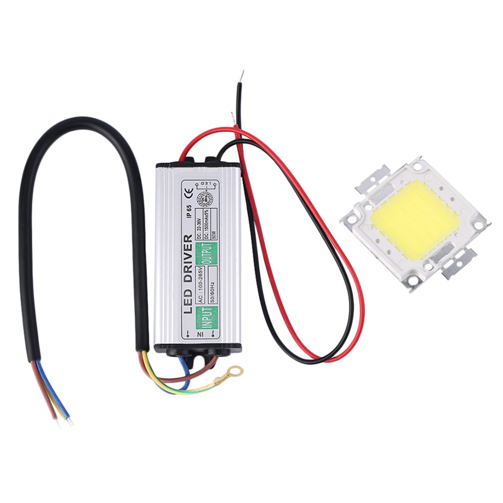 50W LED SMD Chip Bulbs With High Power Waterproof 50W LED Driver Supply Power Supply Switch For LED Strip Lights Light Beads     - title=