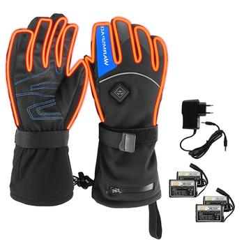 Heated Gloves Battery Powered Electric Heat Gloves Unisex Waterproof Winter Thermal Gloves Outdoor Winter Skiing Gloves