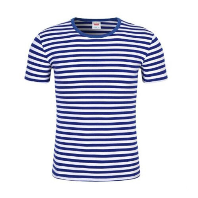 Male cotton shirt Manufacturer direct selling men's striped short-sleeved T-shirt tee top shirt spot wholesale and retail S-4XL