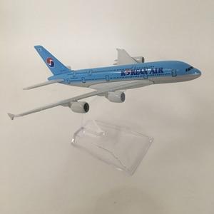 Image 4 - 16cm דגם מטוס מטוס דגם קוריאני אוויר איירבוס a380 מטוסי דגם Diecast מתכת מטוסי 1:400 מטוס צעצוע מתנה