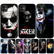 2019 film Joker Joaquin Phoenix soft Black silicone cover phone case for iPhone 11 Pro XS Max XR X 8 8Plus 7 7Plus 6 6S Plus 5S wood floral soft silicone edge mobile phone cases for apple iphone x 5s se 6 6s plus 7 7plus 8 8plus xr xs max case