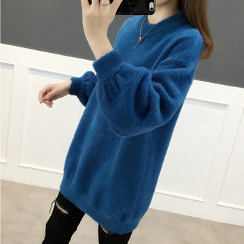 Ailegogo Women Sweater Spring Autumn Casual O Neck Knitted Pullovers Korean Style Long Sleeve Knitwear Female Tops 3