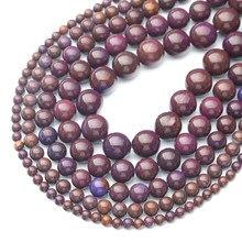 Gorący sprzedawanie naturalny dodatek kolor Zijin kamień koraliki, średnica 4/6/8/10/12mm, średnica otworu około 1mm, do tworzenia biżuterii DIY