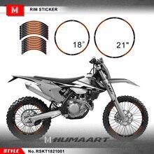 HUMAART Motocrossล้อสติกเกอร์21 X 18 ส่วนบุคคลไวนิลDecalสำหรับMX Dirt Bike Off Road motocross