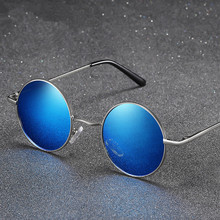 New 2015 Vintage Designer Unisex  Sunglasses Men Polarized Gafas Oculos Retro Coating Sun Glasses Round Oculos De Sol Male  все цены