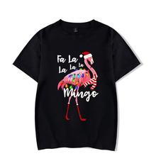 Flamingo short-sleeved cotton T-shirt casual hip hop fashion ladies streetwear
