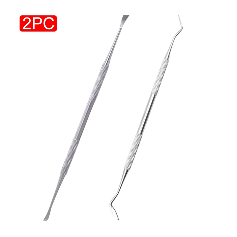 2Pcs Pet Oral Hygiene Cleaning Tool Stainless Steel Tooth Scaler And Scraper Tartar Calculus Remover For Cat Dog