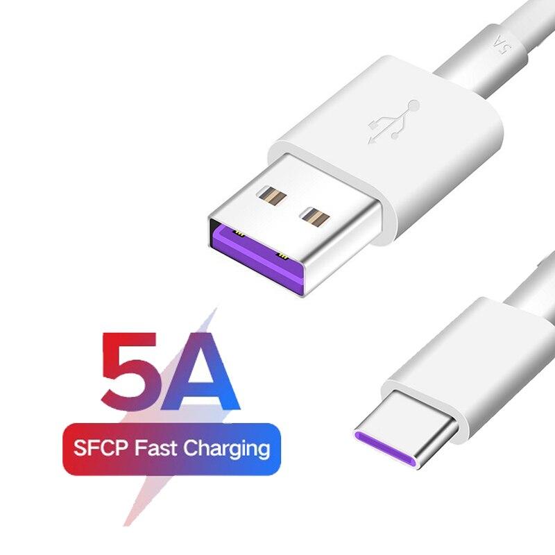 5А USB Type C кабель для Samsung S20 S9 S8 Xiaomi Huawei P30 Pro Быстрая зарядка мобильный телефон зарядный провод белый кабель