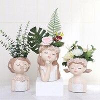 Flower Girl Planter Set European Style Succulent Plants Planter Pot Mini Bonsai Cactus Flower Pot Home Decor Craft