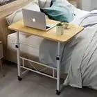 Домашний мобильный стол для ноутбука, прикроватный компьютерный стол, передвижной регулируемый столик для ноутбука, столик для учебы, компьютерная подставка, диван кровать - 1