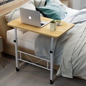 Image 1 - Casa móvel portátil mesa de cabeceira mesa do computador móvel ajustável mesa do portátil altura lateral mesa de estudo suporte do computador fr cama sofá