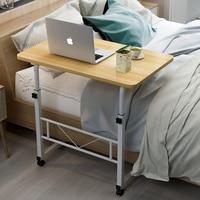Home Mobile Laptop Desk Bedside Computer Table Mobile Adjustable Laptop Table Height Side Study Table Computer Stand fr Bed Sofa