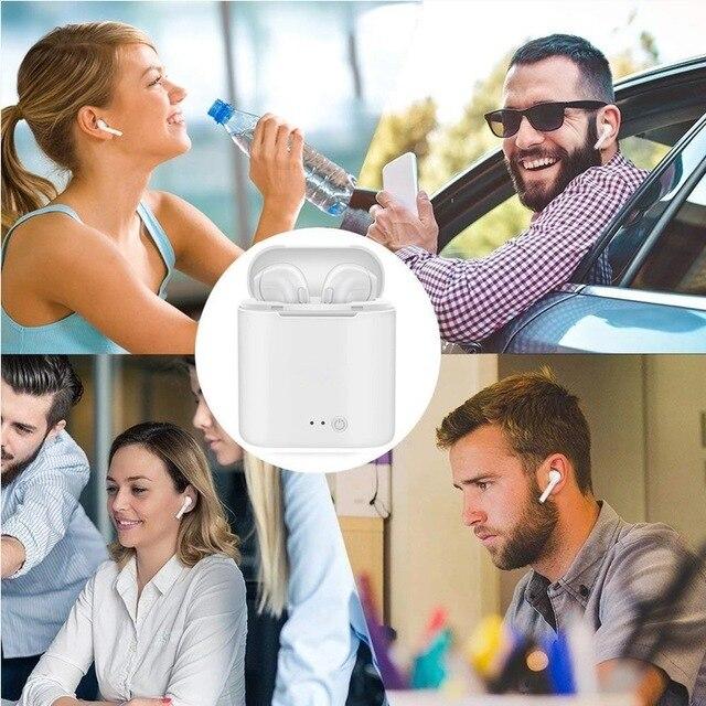 i7s tws Headphones Bluetooth 5.0 Earphones Wireless Headsets Stereo Bass Earbuds In-ear Sport Waterproof Headphone free shipping 6