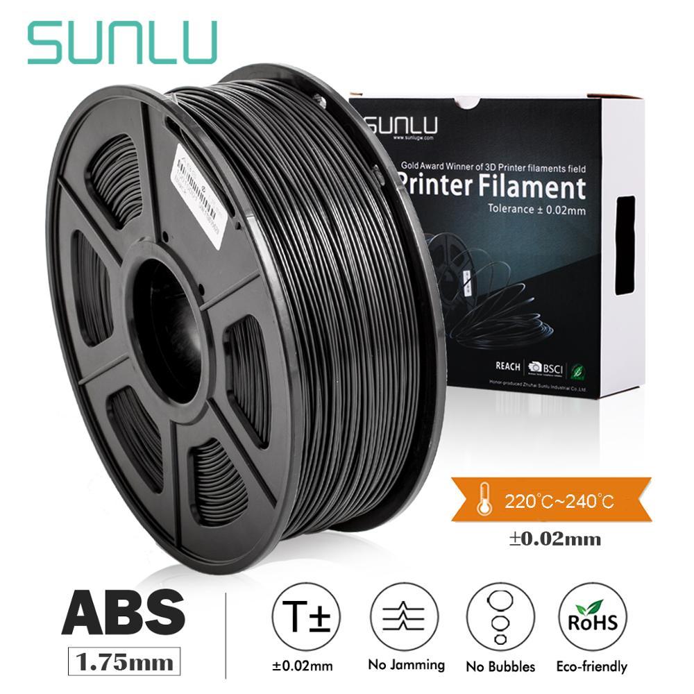 SUNLU ABS Filament 1.75mm For 3D Printer 100% No Bubble Excellent Quality Plastic ABS Filament For Children Scribble 1KG/2.2LBS