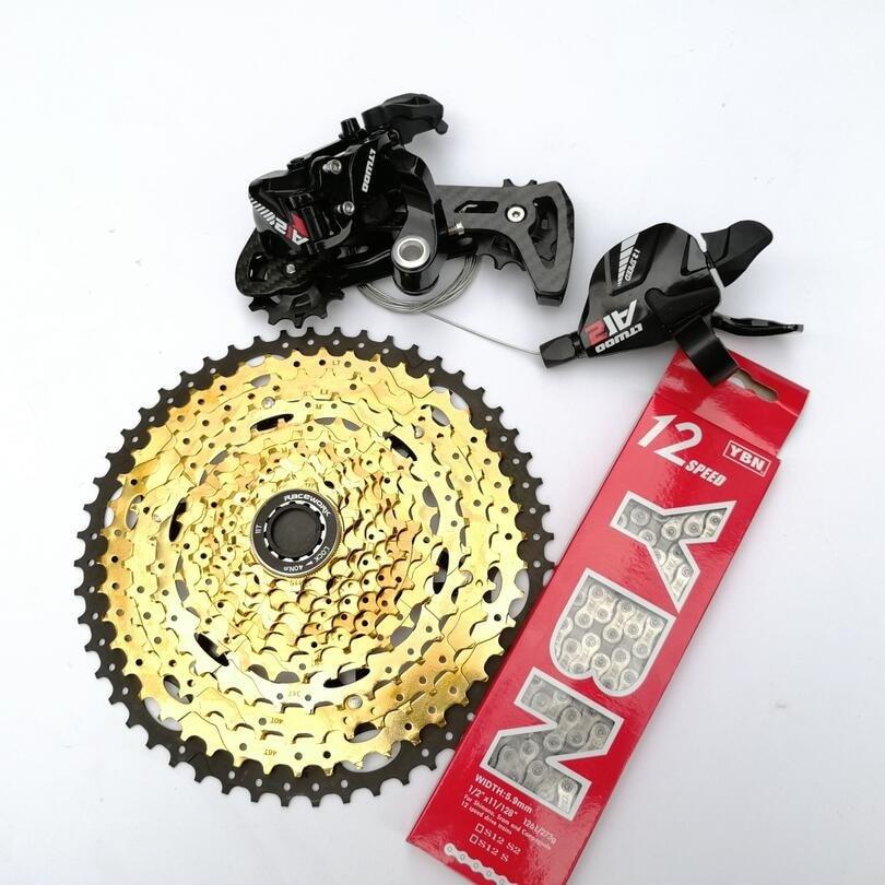 LTWOO 12 Vitesses 1*12 VTT Groupe VTT 12s 11 52T Cassette manette de vitesse carbone Dérailleur Arrière Changement Chaîne SRAM Shimano   AliExpress