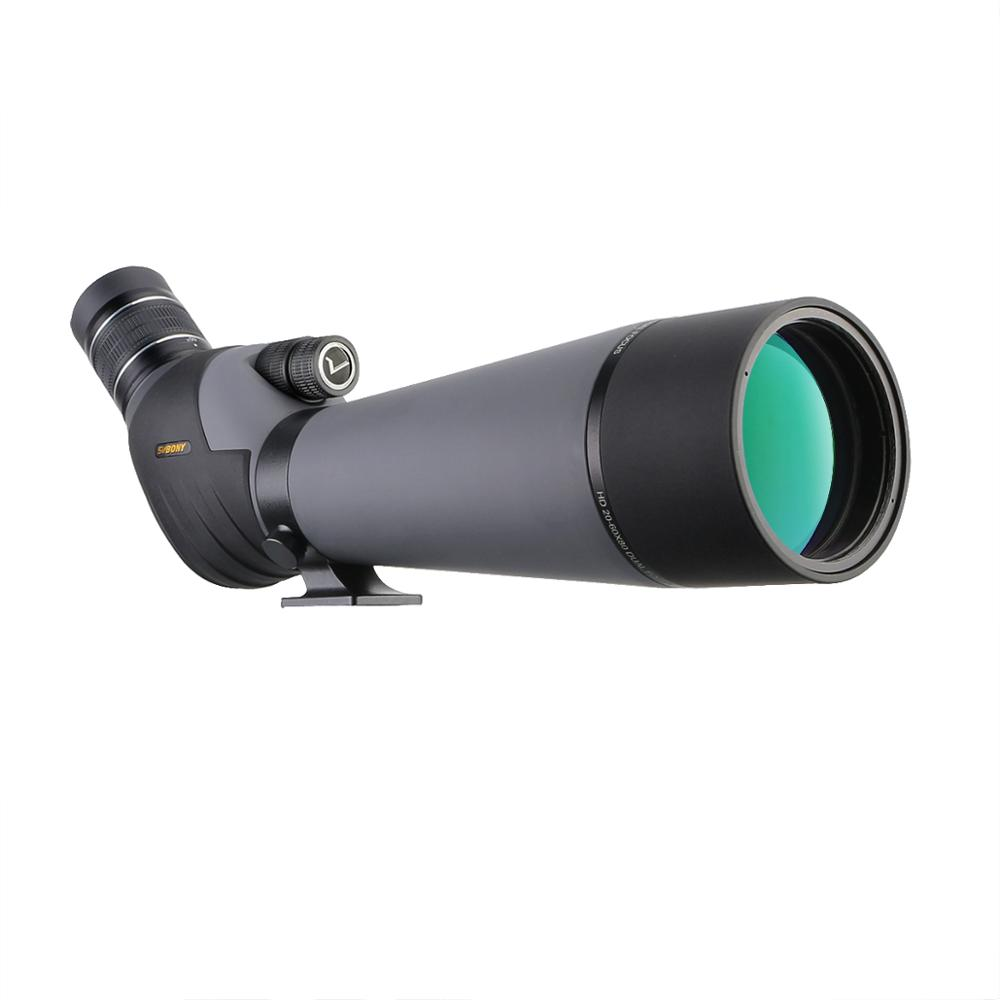 SVBONY 20-60x80 Spotting Scope Dual Speed Focus Telescope SV409 Zoom FMC Lens Coating For Target Shooting Archery Birdwatching