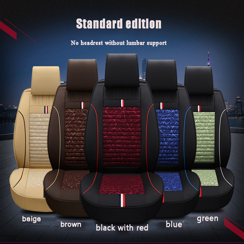 HLFNTF Fully enclosed leather plus linen four season For peugeot 205 307 206 308 207 406 301 607 3008 4008 car seat cushions|Automobiles Seat Covers| |  - title=