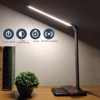 Eye Protect LED Desk Lamp Aluminum Alloy Folding Touching Dimming 3 level / 5 level /timing / Plug / Charge / Black / Silver USB Desk Lamps     -